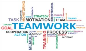 17775643 - a word cloud of teamwork related items